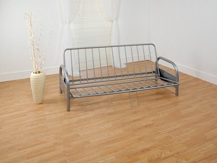 Furniture and Furnishings pallet 26 C23 : 1342551842double4ft6classicthreeseatersilvermetalfutonsofabedframeonly480pupdoublemetalfutonframe from returnmarket.com size 720 x 540 jpeg 94kB