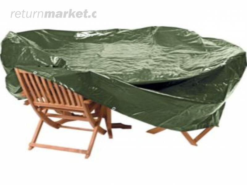 Heavy duty oval patio set cover extra large crunchymustard for Oval patio set cover